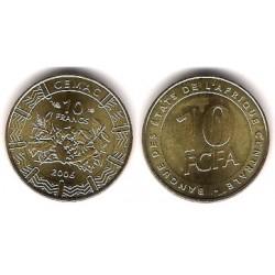 (19) Estados África Central. 2006. 10 Francs (SC)