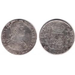 Fernando VII. 1809. 8 Reales (MBC-) (Plata) Ceca de Mejico TH