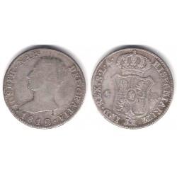 José Napoleón. 1812. 4 Reales (BC+) (Plata) Ceca de Sevilla LA