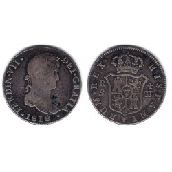 Fernando VII. 1818. 4 Reales (BC) (Plata) Ceca de Sevilla CJ