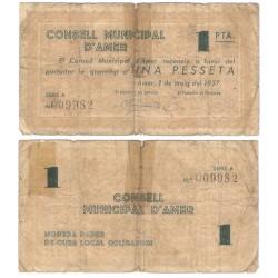 Amer. 1937. 1 Peseta (RC) Roturas
