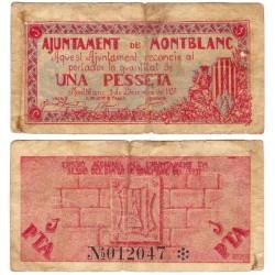 Montblanc. 1937. 1 Peseta (BC-) Roturas