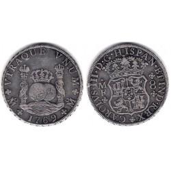 Carlos III. 1769. 8 Reales (MBC) (Plata) Ceca de Mejico MF