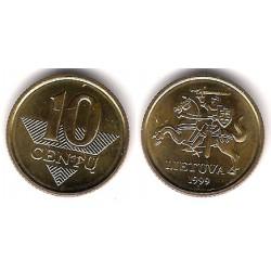 (106) Lituania. 1999. 10 Centu (SC)