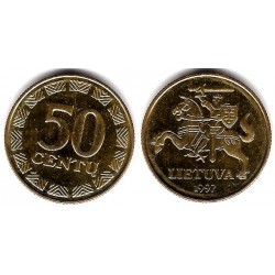 (108) Lituania. 1997. 50 Centu (SC)