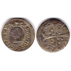 Carlos II. 1677. 1 Real (BC+) (Plata)