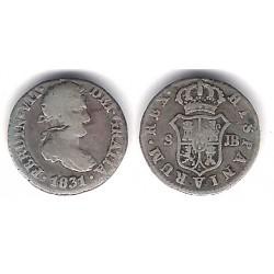 Fernando VII. 1831. ½ Real (BC) (Plata) Ceca de Sevilla JB