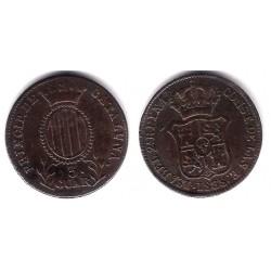 Isabel II. 1838. 3 Cuartos (MBC+) Ceca de Cataluña