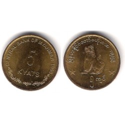 (61) Myanmar. 1999. 5 Kyats (SC)