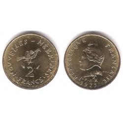 (5.2) Nuevas Hébridas. 1975. 2 Francs (SC)