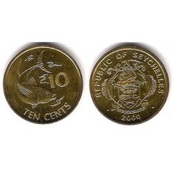 (48.2) Seychelles. 2000. 10 Cents (MBC+)