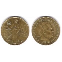 (143) Mónaco. 1979. 20 Centimes (MBC+)