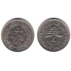 (28.1) Líbano. 1969. 50 Piastres (EBC)
