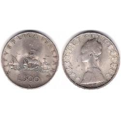 (98) Italia. 1959. 500 Lira (MBC) (Plata)