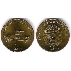 (196) Corea del Norte. 2002. 1 Chon (SC)