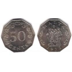 (12) Malta. 1972. 50 Cents (SC)