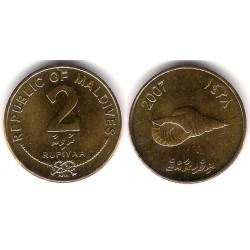 (88) Maldivas. 2007. 2 Rufiyaa (SC)