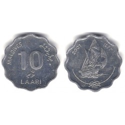 (70) Maldivas. 2001. 10 Laari (SC)