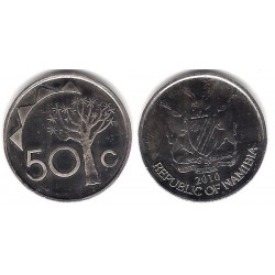 (3) Namibia. 2010. 50 Cents (SC)