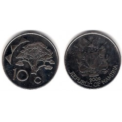 (2) Namibia. 2009. 10 Cents (SC)
