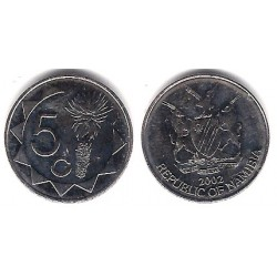 (1) Namibia. 2002. 5 Cents (SC)