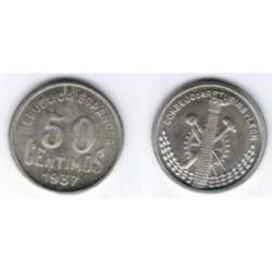 Consejo de Asturias y León. 1937. 50 Céntimos (SC)