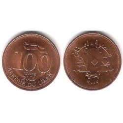 (38b) Líbano. 2009. 100 Livres (SC)