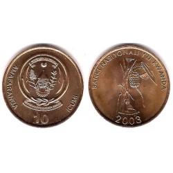 (24) Ruanda. 2003. 10 Francs (SC)