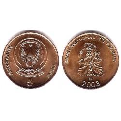 (23) Ruanda. 2003. 5 Francs (SC)
