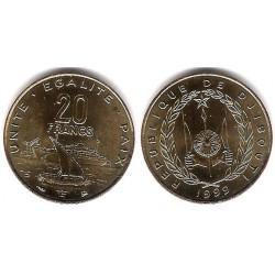 (24) Djibouti. 1999. 20 Francs (SC)