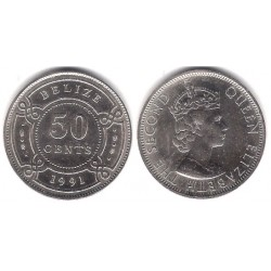 (37) Belice. 1991. 50 Cents (SC)