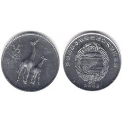 (186) Corea del Norte. 2002. ½ Chon (SC)