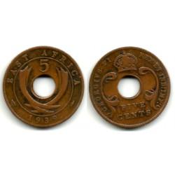 (25.1) Africa Oriental. 1939. 5 Cents (MBC+)