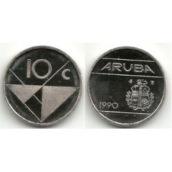 (2) Aruba. 1990. 10 Céntimos (SC)