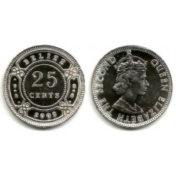 (36) Belice. 2003. 25 Cents (SC)