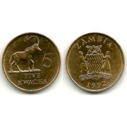 (31) Zambia. 1992. 5 Kwacha (SC)