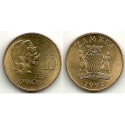 (32) Zambia. 1992. 10 Kwacha (SC)
