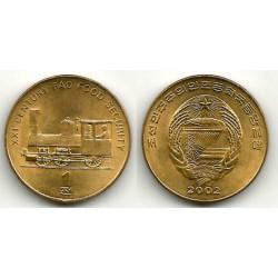 (195) Corea del Norte. 2002. 1 Chon (SC)