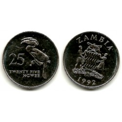 (29) Zambia. 1992. 25 Ngwee (SC)