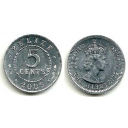(34a) Belice. 2003. 5 Cents (SC)