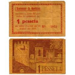 Montblanc. 1937. 1 Peseta (BC)