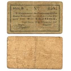 Sant Guim de Freixanet. 1937. 50 Céntimos (MBC-)