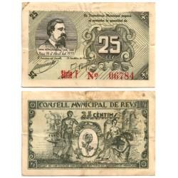 Reus. 1937. 25 Céntimos (BC+)