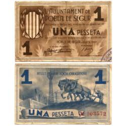 Pobla de Segur. 1937. 1 Peseta (MBC-)