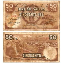 Pins del Vallés. 1937. 50 Céntimos (BC)
