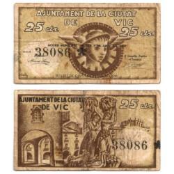 Vic. 1937. 25 Céntimos (BC) Serie A