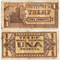 Tremp. 1937. 1 Peseta (BC) Serie A
