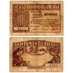 Vilaboi. 1937. 25 Céntimos (BC)