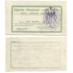 Junta Gestora Municipal de Pobla de Segur. 1 Peseta (EBC)