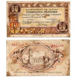 Lérida. 1937. 50 Céntimos (BC)